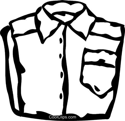 dress shirts Royalty Free Vector Clip Art illustration vc060866