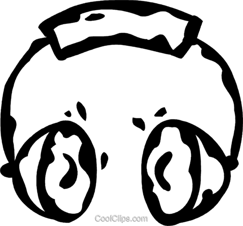 headphones Royalty Free Vector Clip Art illustration vc060871