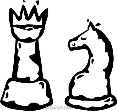 chess pieces Royalty Free Vector Clip Art illustration vc060886