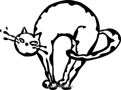 cat Royalty Free Vector Clip Art illustration vc060902