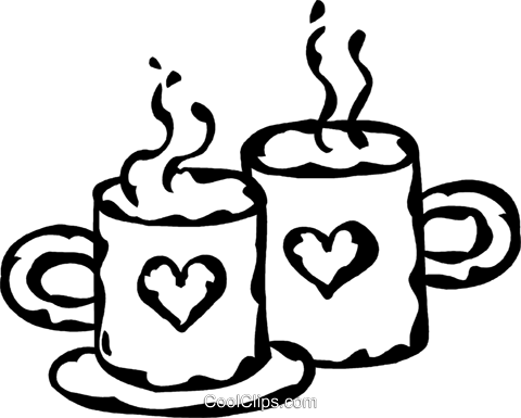 Valentine's day coffee Royalty Free Vector Clip Art illustration vc060929