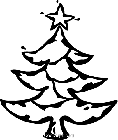 Christmas tree Royalty Free Vector Clip Art illustration vc060934