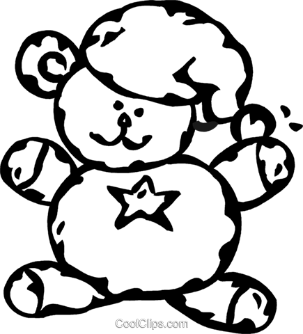 teddy bear Royalty Free Vector Clip Art illustration vc060941
