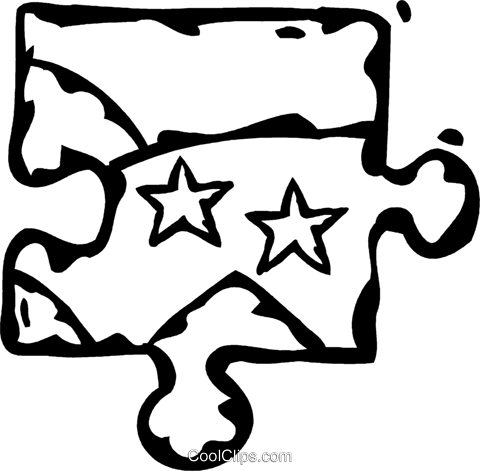 puzzle piece Royalty Free Vector Clip Art illustration vc060943
