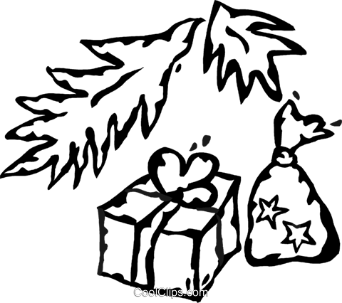 Christmas presents Royalty Free Vector Clip Art illustration vc060946