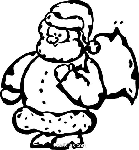 Santa Royalty Free Vector Clip Art illustration vc060959