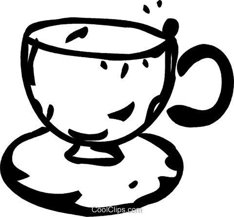 teacup Royalty Free Vector Clip Art illustration vc060984