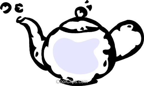 teapot Royalty Free Vector Clip Art illustration vc061024