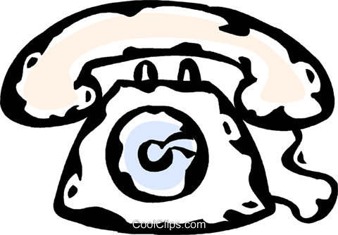 telephone Royalty Free Vector Clip Art illustration vc061030