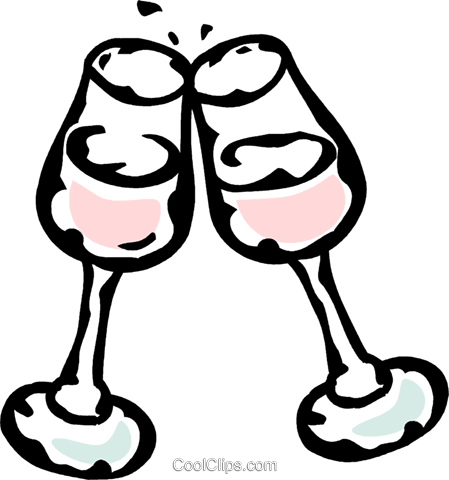 wine glasses Royalty Free Vector Clip Art illustration vc061059