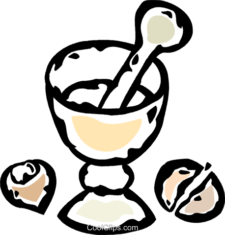 mortar and pestle Royalty Free Vector Clip Art illustration vc061063