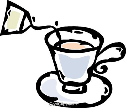 teacup Royalty Free Vector Clip Art illustration vc061066