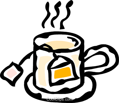 teabag in a cup Royalty Free Vector Clip Art illustration vc061091