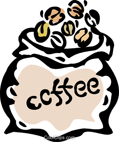 coffee beans Royalty Free Vector Clip Art illustration vc061113