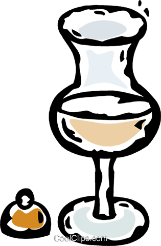 drinking glass Royalty Free Vector Clip Art illustration vc061121