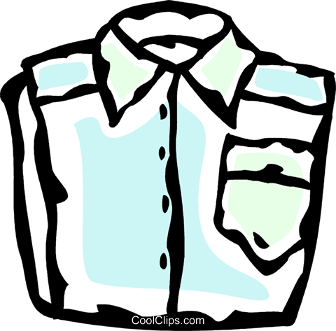 dress shirt Royalty Free Vector Clip Art illustration vc061141
