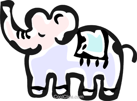 toy elephant Royalty Free Vector Clip Art illustration vc061154