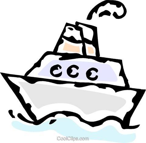 cruise ship Royalty Free Vector Clip Art illustration vc061173