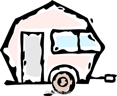 camping trailer Royalty Free Vector Clip Art illustration vc061176