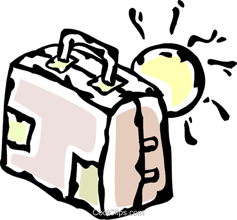 luggage Royalty Free Vector Clip Art illustration vc061180