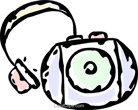 portable CD player Royalty Free Vector Clip Art illustration vc061185