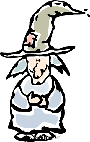 witch Royalty Free Vector Clip Art illustration vc061194