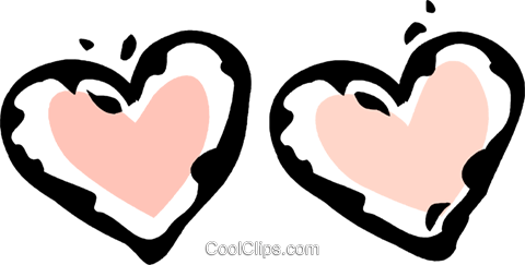 hearts Royalty Free Vector Clip Art illustration vc061207