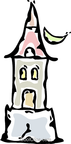 haunted house Royalty Free Vector Clip Art illustration vc061211