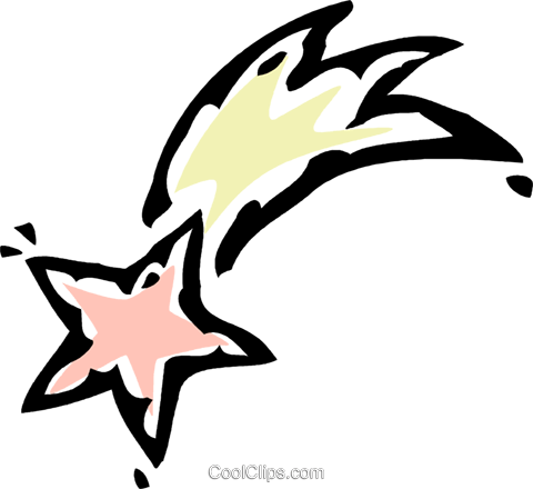 shooting star Royalty Free Vector Clip Art illustration vc061223