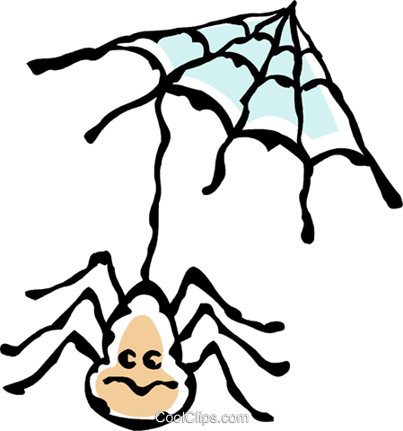 spider and web Royalty Free Vector Clip Art illustration vc061225