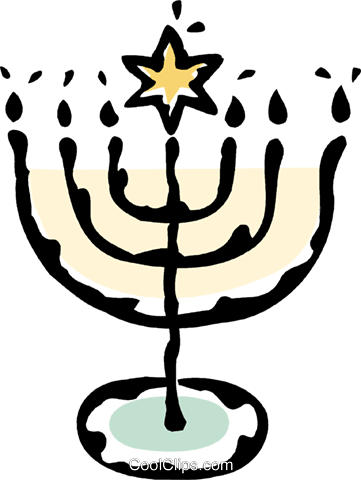 menorah Royalty Free Vector Clip Art illustration vc061240