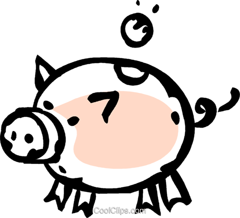 piggy bank Royalty Free Vector Clip Art illustration vc061274