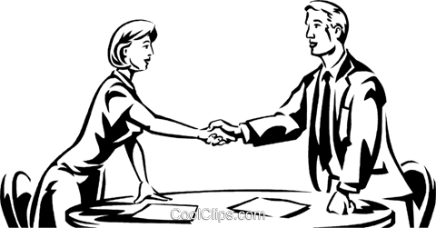 Shaking Hands Royalty Free Vector Clip Art illustration vc061275