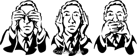 see no evil, hear no evil ,speak no evil Royalty Free Vector Clip Art illustration vc061281