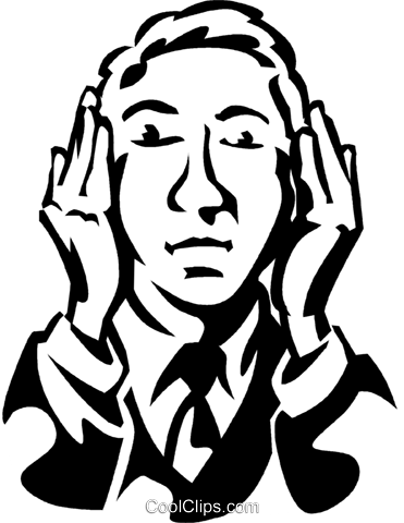 hear no evil Royalty Free Vector Clip Art illustration vc061283