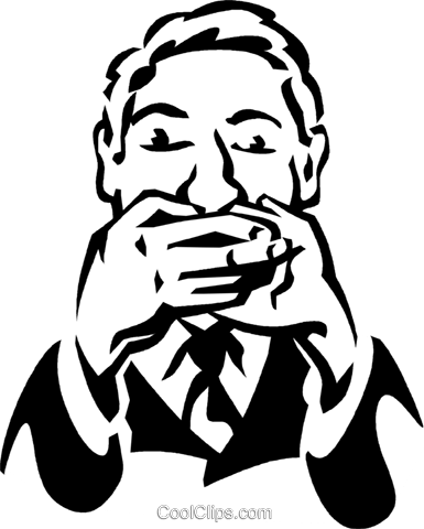 speak no evil Royalty Free Vector Clip Art illustration vc061284