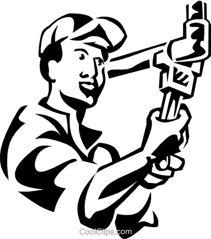 Plumbers Royalty Free Vector Clip Art illustration vc061287