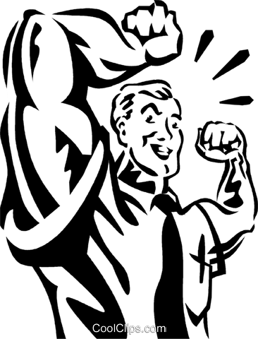 Bodybuilding and Weight lifting Royalty Free Vector Clip Art illustration vc061290