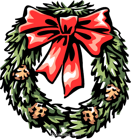 Christmas wreath Royalty Free Vector Clip Art illustration vc061312