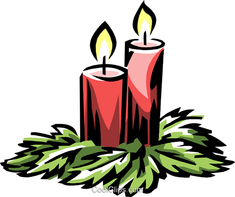 Christmas candles Royalty Free Vector Clip Art illustration vc061317