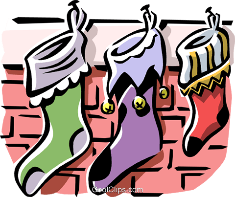 Christmas stockings Royalty Free Vector Clip Art illustration vc061321