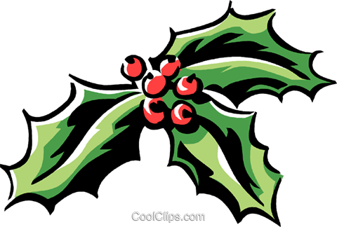 holly and ivy Royalty Free Vector Clip Art illustration vc061322
