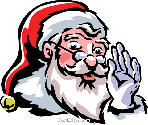 Santa Royalty Free Vector Clip Art illustration vc061323