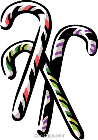 candy canes Royalty Free Vector Clip Art illustration vc061326
