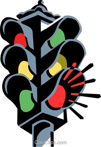 traffic light Royalty Free Vector Clip Art illustration vc061337