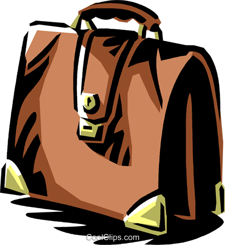 briefcase Royalty Free Vector Clip Art illustration vc061353