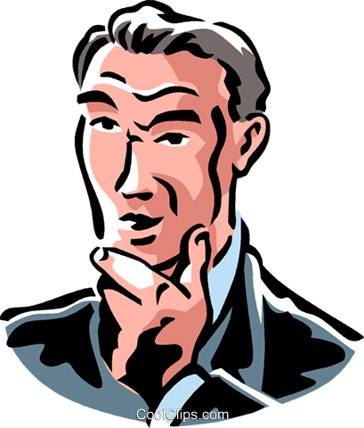 Top Keywords | Picture for Man Thinking Clipart
