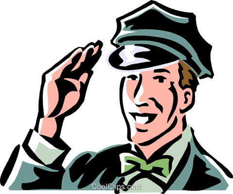 vintage service station employee Royalty Free Vector Clip Art illustration vc061362