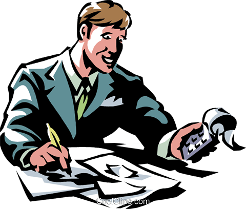 accountant Royalty Free Vector Clip Art illustration vc061372