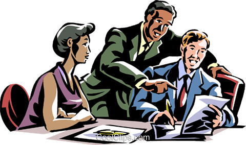 business meeting Royalty Free Vector Clip Art illustration vc061376
